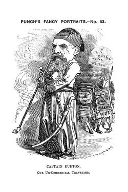 Richard Francis Burton, English Explorer and Orientalist, 1882 by Edward Linley Sambourne