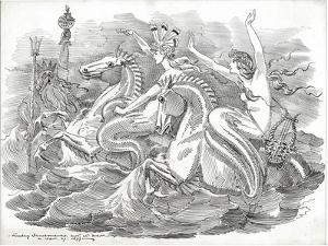 The Blue Riband of the Ocean, 1899 by Edward Linley Sambourne