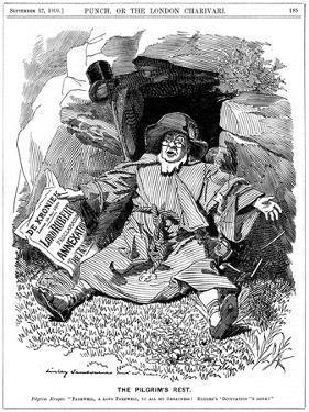 The Pilgrim's Rest, Caricature Af Paul Kruger, South African Politician, 1900 by Edward Linley Sambourne