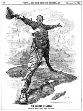 The Rhodes Colossus, 1892 by Edward Linley Sambourne