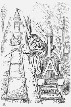The Worst Managed Railway Running Out of London, 1868 by Edward Linley Sambourne