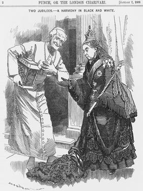 Two Jubilees - a Harmony in Black and White, 1888 by Edward Linley Sambourne