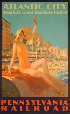 Atlantic City Poster by Edward M. Eggleston