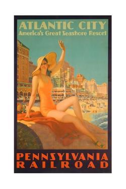 Atlantic City Poster by Edward M. Eggleston