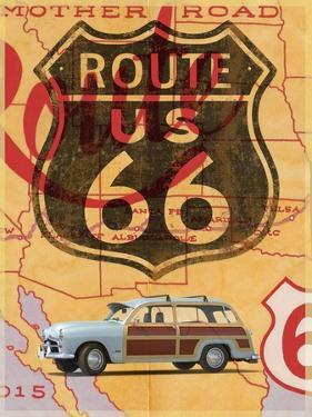 Route 66 Vintage Postcard by Edward M. Fielding
