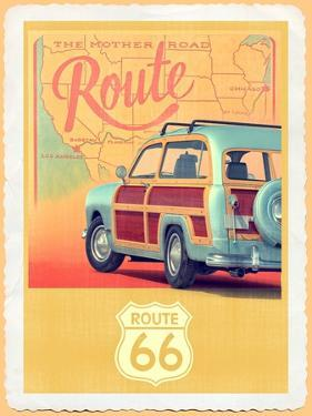Route 66 Vintage Travel by Edward M. Fielding
