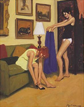 Sisters Dressing by Edward Martinez