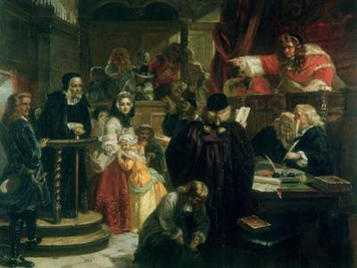 Judge Jeffries (1648-89) Hurling Abuse at Richard Baxter (1615-91) at His Trial