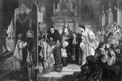 King James II (1633-170) Receiving News of the Landing of the Prince of Orange, 1890