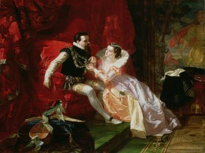 Leicester and Amy Robsart at Cumnor Hall, 1866