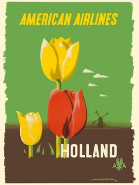 Holland - American Airlines - Tulips by Edward McKnight Kauffer