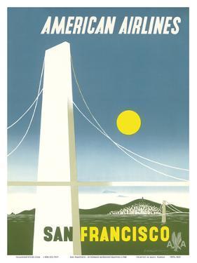 San Francisco California - American Airlines by Edward McKnight Kauffer
