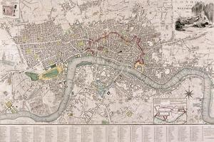 Map of London, 1797 by Edward Mogg