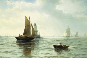 Around the Lighthouse by Edward Moran