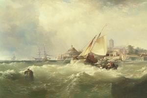 New Castle on the Delaware, 1857 by Edward Moran