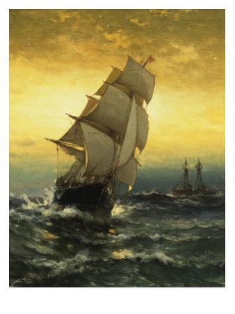 Passing Ambrose Lightship by Edward Moran