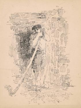 Standing Male Peasant, c.1878 by Edward Moran