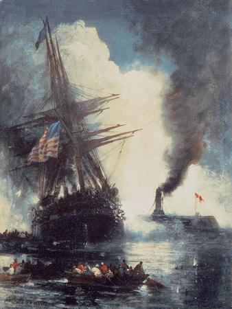 The Merrimac Sinks the Cumberland