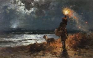 The Signal by Edward Moran