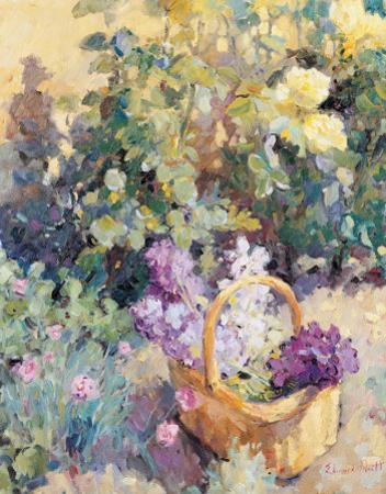 Basket with Flowers by Edward Noott