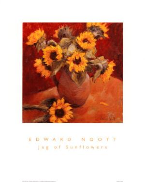 Jug of Sunflowers by Edward Noott