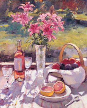 Pink Flowers by Edward Noott