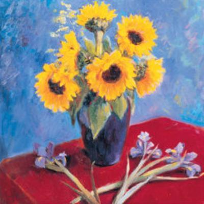 Sunflowers and Irises by Edward Noott