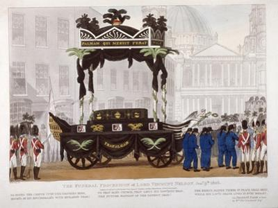 View of the Funeral Procession of Lord Nelson, London, 1806