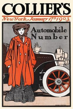 Collier's Automobile Number, New York, January 17th, 1903 by Edward Penfield