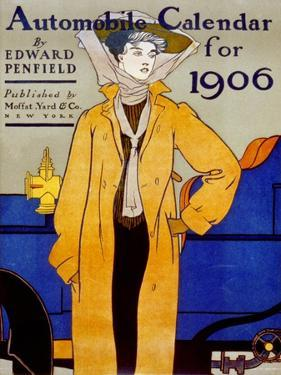 Cover for Automobile Calendar of 1906 by Edward Penfield