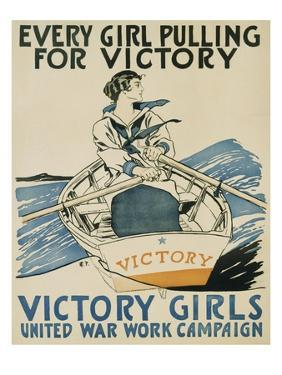 Every Girl Pulling for Victory by Edward Penfield
