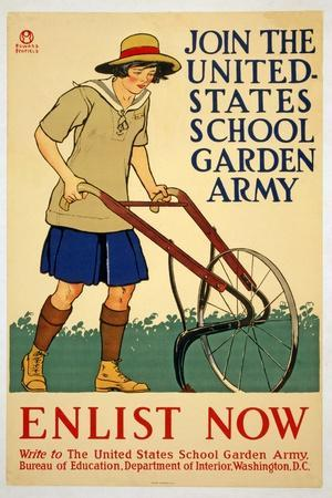 Join the United States School Garden Army - Enlist Now, 1918