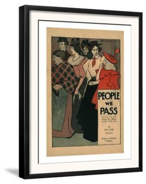 People We Pass, Stories of Life among the Masses of New York City by Edward Penfield
