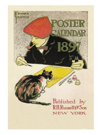 Poster Calendar 1897 by Edward Penfield