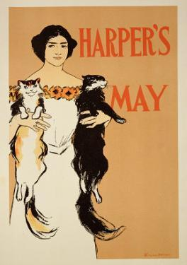 "Reproduction of a Poster Advertising the May Issue of ""Harper's Magazine,"" 1897 by Edward Penfield"