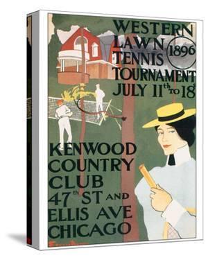 Western Lawn Tennis Tournament by Edward Penfield