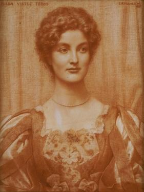Portrait of Hilda Virtue Tebbs, 1897 by Edward Robert Hughes
