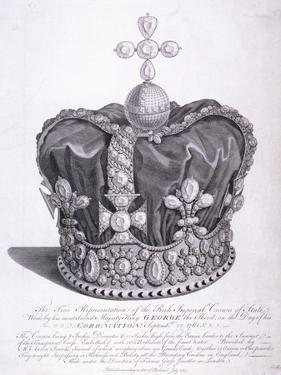 Imperial Crown of State Worn by King George III on His Coronation, 1763 by Edward Rooker