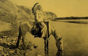 Bow River, Blackfoot by Edward S. Curtis