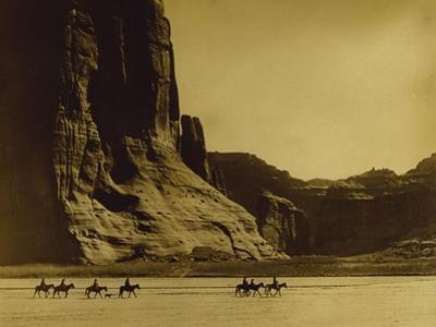 Canon De Chelly, Arizona, Navaho (Trail of Tears) by Edward S. Curtis