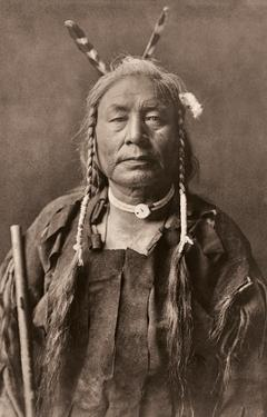 Eagle Child - Atsina Native Man - North American Indian by Edward S. Curtis