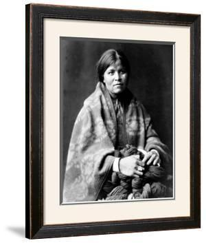 Girl in Blanket by Edward S. Curtis