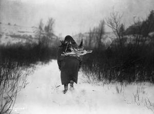 Going to Camp - Apsaroke by Edward S. Curtis