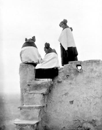 Hopi Maidens by Edward S. Curtis