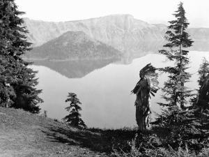 Klamath Chief, C1923 by Edward S. Curtis