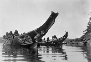 Kwakiutl Canoes, c1914 by Edward S^ Curtis