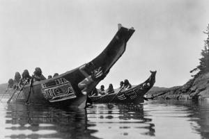 Kwakiutl Canoes, c1914 by Edward S. Curtis