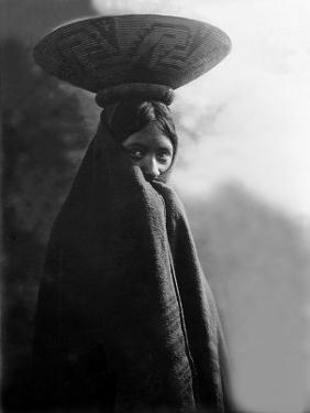 Maricopa Girl with Basket by Edward S. Curtis