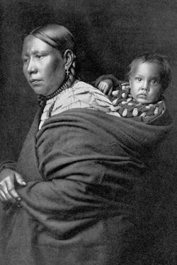 Mother and Child by Edward S. Curtis