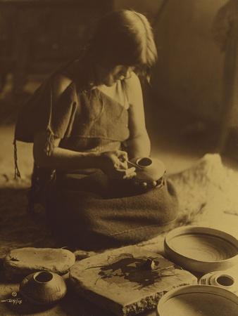 Native American Indian, the Potter (Nampeyo) Hopi